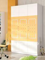 Набор детской мебели Children room set furniture - 3 door wardrobe, bed, nightstand, writing desk : 633# yellow&white