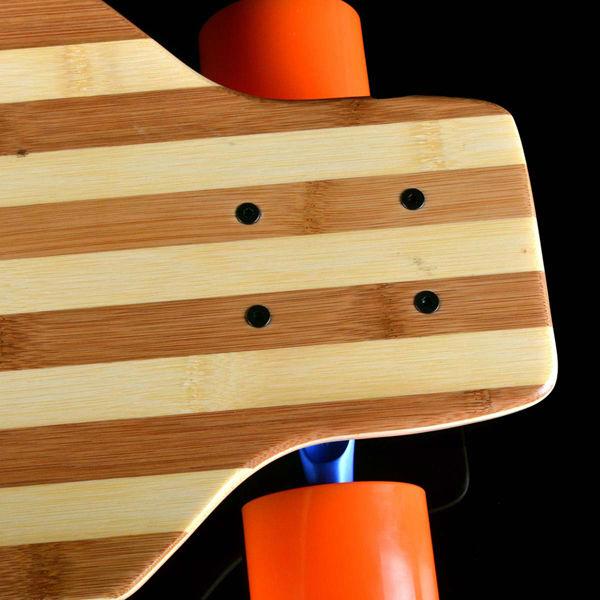 Backfire Flexible skateboard longboard Bamboo fiberglass drop through cruiser deck