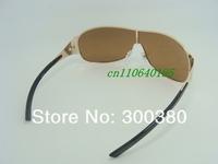 1шт высокого качества бренда солнцезащитные очки дизайнер моды мужчин женщин Золотой кадр очки оригинальной коробке