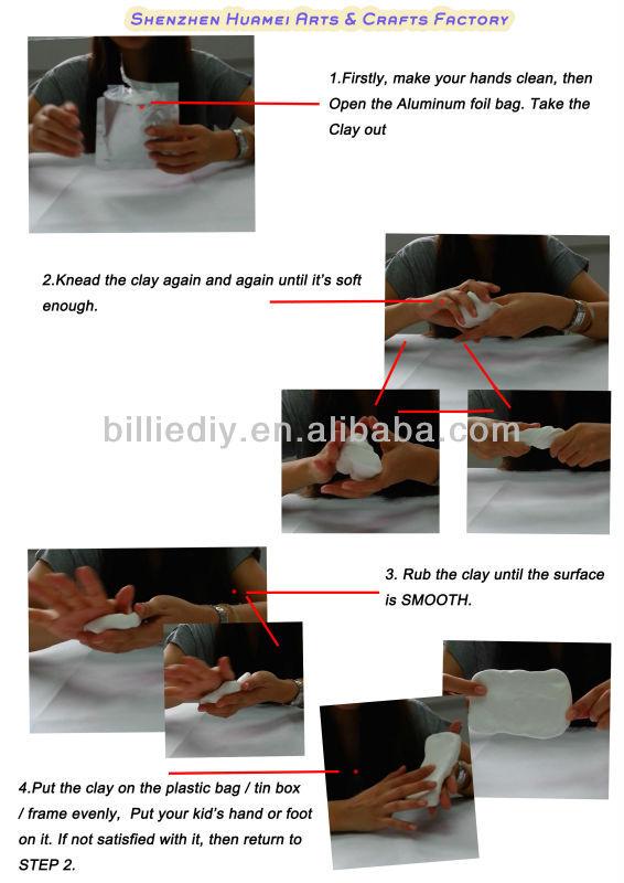 baby hand prints clay kit