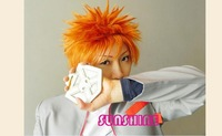 Factory supply~Stock!!Orange stylish short cheap cosplay cos wig,Heat resistance fibre.Free shipping