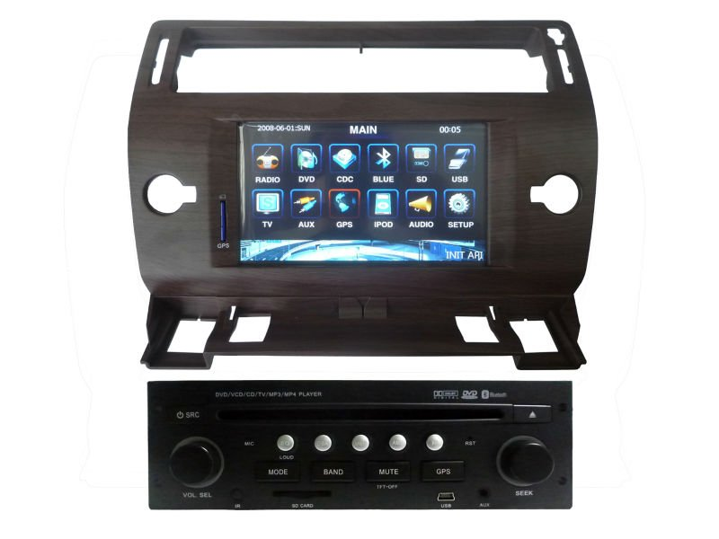 LSQ Star special car DVD for Citroen C4 with GPS navi,With steering wheel control function, CAN-BUS function