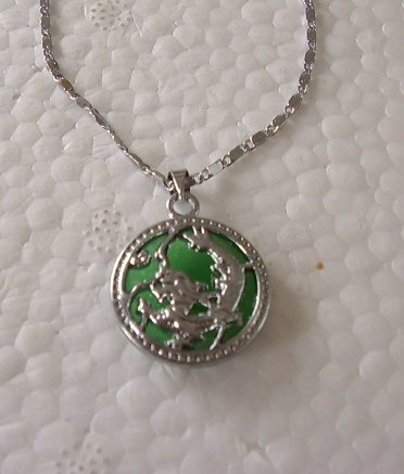 Natural Malay Jade necklace dragon pendant