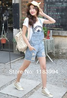 Женские шорты fashion casual summer overalls shorts denim jeans short pants for women D1-577