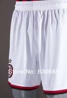 Мужские шорты для футбола 13/14 AC Milan white shorts Soccer Shorts, best quality Football Shorts+Embroidery Logo Short Pants