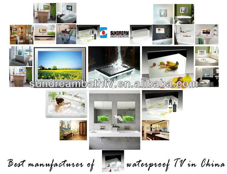 Imperm able l 39 eau salle de bain tv prix miroir 32inch for Tlvision miroir