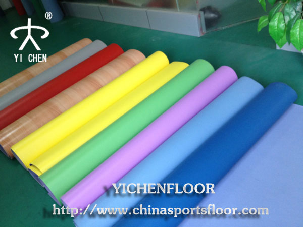 Indoor fire retardant basketball flooring,pvc wood flooring