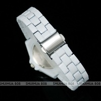 Наручные часы Fashion Pure White Double Bling Crystal Timepiece Lady Party Dress Cuff Watch, Q1066