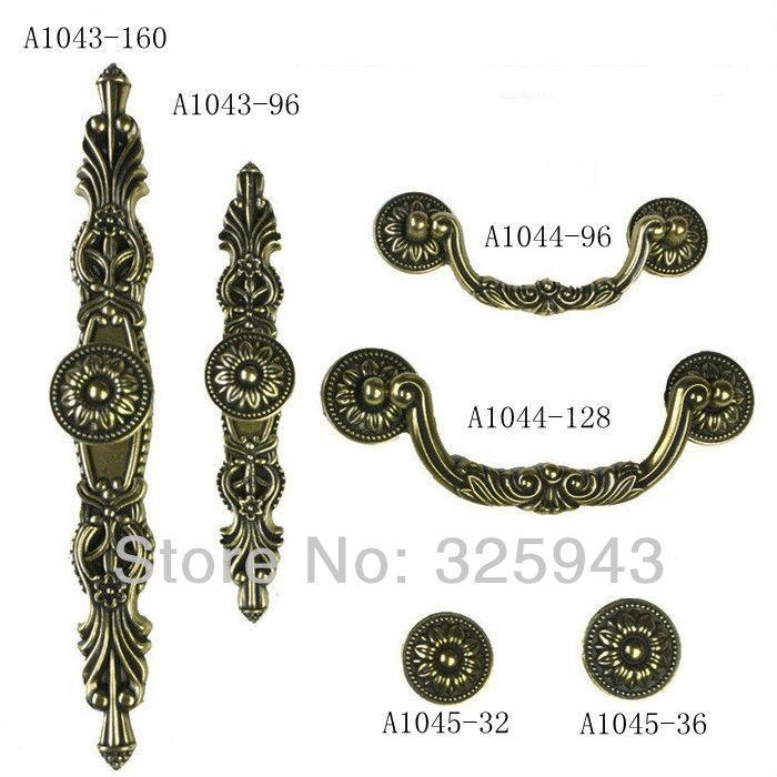 96 мм бронза старинные европейского корпусной мебели ручки ...