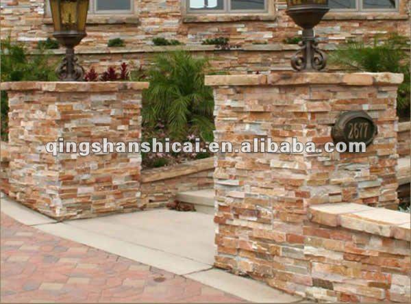 apilados piedra pizarra baldosas spero pizarra cultivadas de piedra hoja de chapa de madera piedra de
