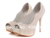 Туфли на высоком каблуке Best selling! Newest Lovely Women Suede Sittle High heel Pumps Sexy Party Heels Dress Shoes 1pair