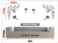Стикеры для стен 3D Wall Sticker Wall Paster/Room Sticker/Home Decorative Poster 1 Set=1 Vine+3 Butterfly
