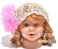 Вышивка большой цветок принцесса заставку эластичной лентой младенческой девочку в голову Аксессуары
