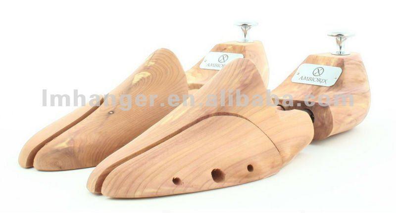 (LM-020) Natural Cedar Wooden Boot Shoe Stretcher