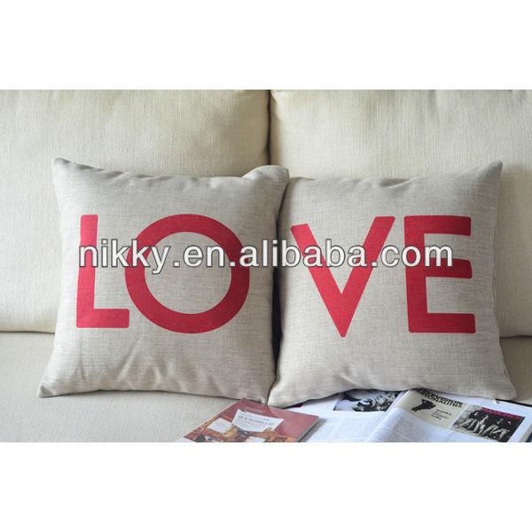 European lovely cushion, vintage cushion and decorative love cotton cushion cover