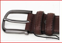 Мужской ремень 10PCS/Lot 33mm Wide Mens 100% Real Genuine Leather Belt Brand New With Bag