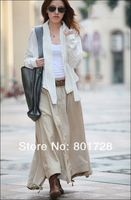 Женская юбка S0040 high quality women's fashion long linen skirt, support drop shipping