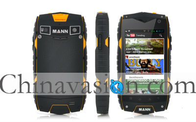 Rugged Android Phone with 4 Inch Screen, Snapdragon Dual Core CPU, IP68 Waterproof, Shockproof, Dustproof