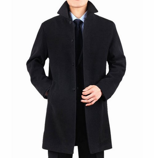 2017 2015 Winter Famous Brand Wool Coat Mens Long Trench Coat