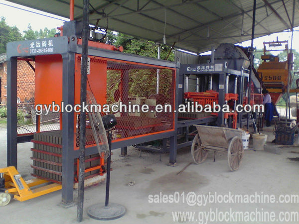 new technology production machines qty6-18 simple concrete block forming machine