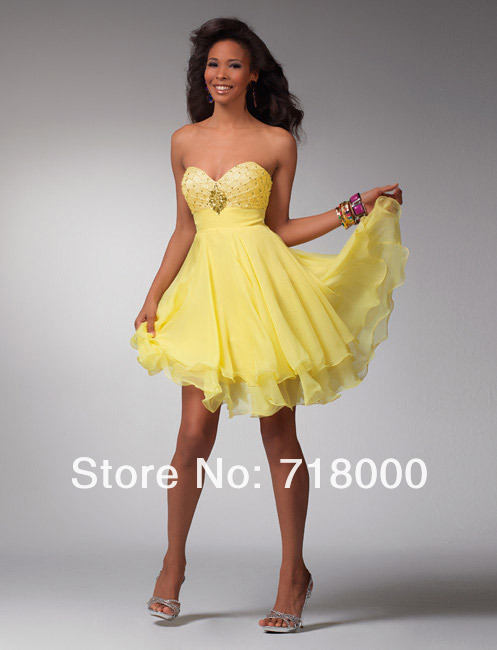 Yellow Cocktail Dresses Online 78