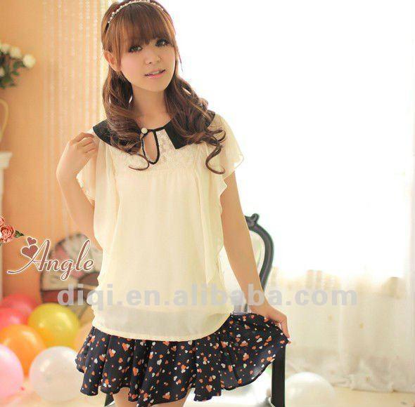 modelo de las señoras blusa de gasa en verano 2013 nueva moda de
