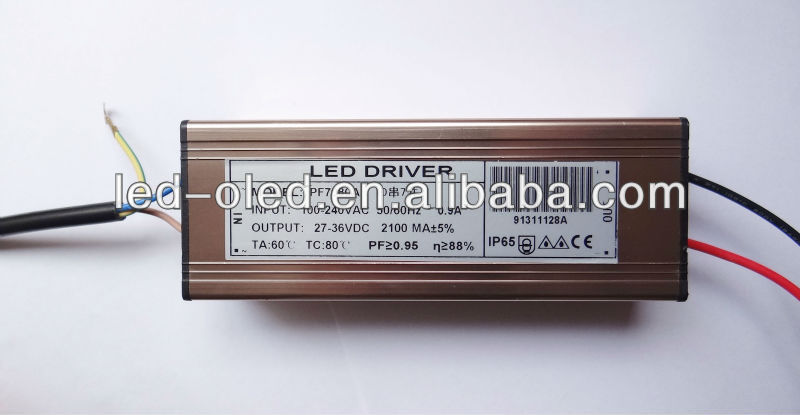 High power 70w dimmable waterproof led driver