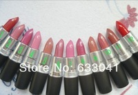 Губная помада 6pcs/ lot Drop Shiping 2013 Brand Cosmetic Makeup Lustre Rough Long Lasting Nude Lipsticks for Women 12 Colors