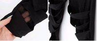 Женские носки и Колготки 2012 fashion slim thin black ripped cut-out bandage sexy lady leggings stretch pants