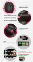 Бразильские натуральные волосы тела волны микс длина 3шт/много человеческих волос расширение естественного цвета 1b dhl быстро и