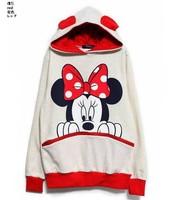 Женские толстовки и Кофты High quality2013 Spring autumn and winter cartoon rabbit ear plus size sweatshirt hooded cartoon hoodie