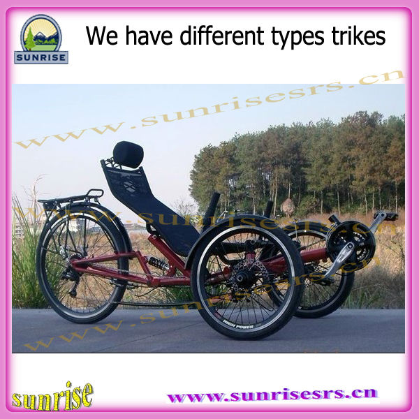 recumbent bike road type with three wheels