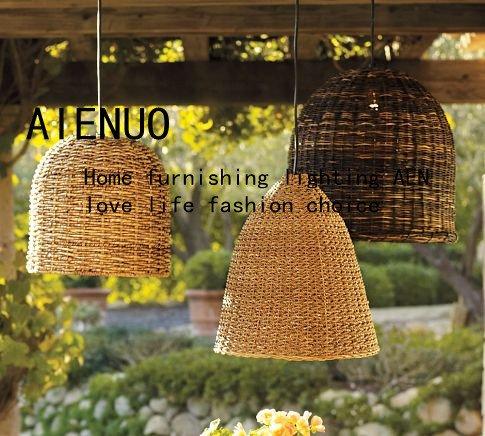 lampadari in rattan : : Acquista amare e nuoou stile paralume decorazioni rattan lampadari ...
