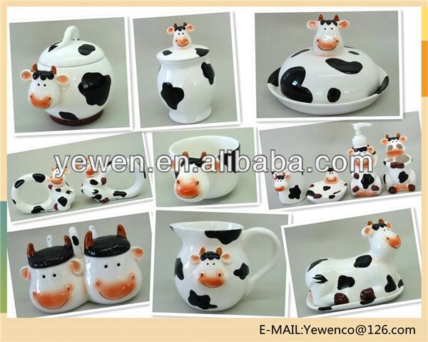 Vaca de cerámica tazón-Cuencos-Identificación del producto ...