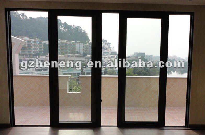 Aluminium porte coulissante porte d 39 entr e avec profil cadre en aluminium - Porte coulissante entree ...