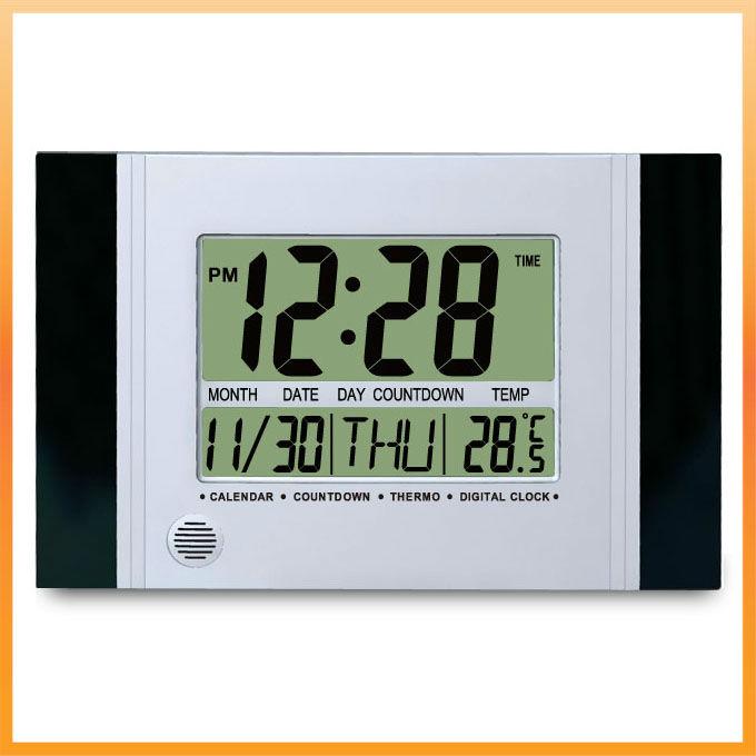 lcd orologio digitale da parete con grande numero orologio