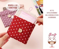 Детали и Аксессуары для сумок 50PCS Travel Pack sanitary storage bag Korean version of the cute girl sanitary napkins large Storage Bag Pouch