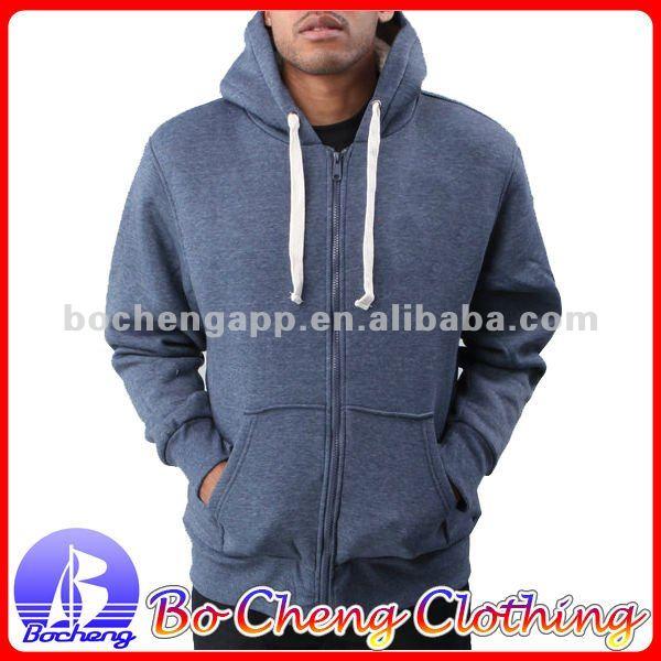 wholesale plain blank zip up hoodies for man