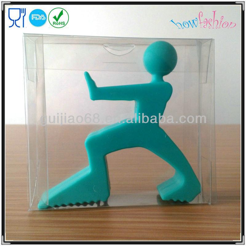 Estatueta cunha porta de borracha de silicone engraçado