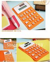 Калькулятор 1piece 8 digits solar calculator Silica gel soft keyboard
