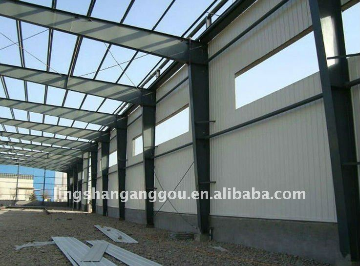 Iso light steel structure factory shed view steel for Factory building design