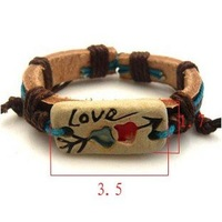 Браслет Fashion exquisite punk personality leather bracelet jewelry S5357
