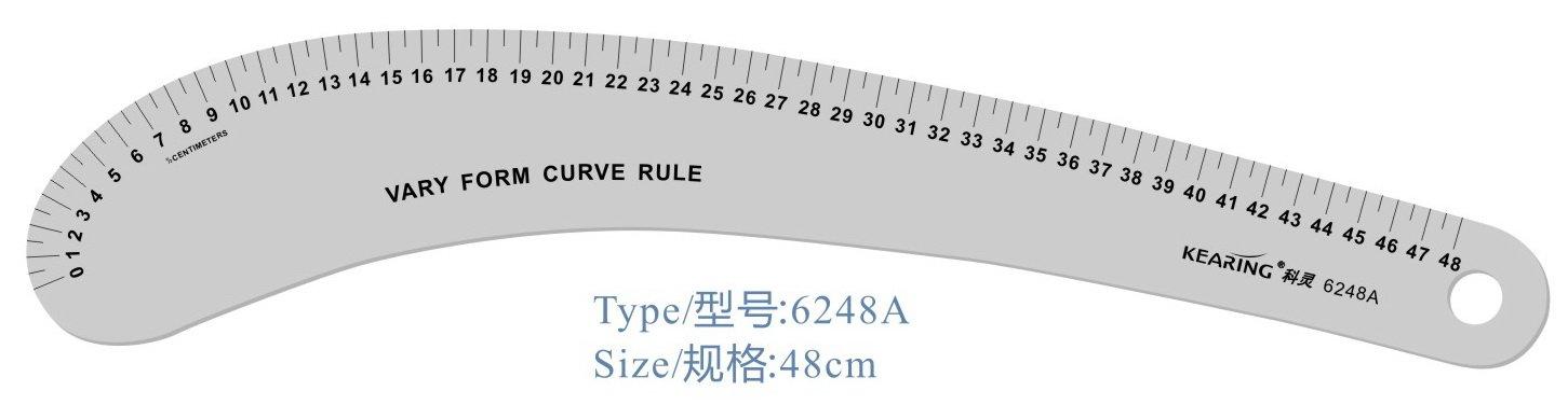"""24pcs/lot, 24"""" для линии сэндвич, различаются формы кривой правителя, используемые для моды Десина и искусство"""