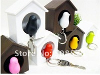 Брелок s /sparrow key ring with whistle/have bird's nest hang on the wall/bird key ring/great gift