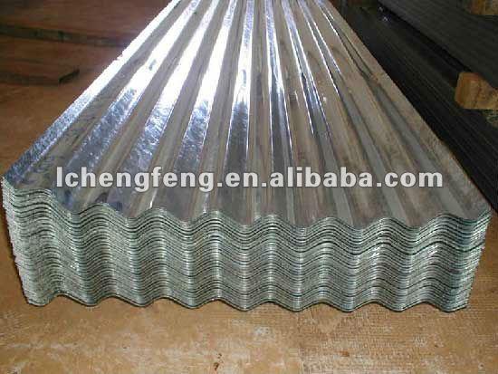 Galvanizado chapa de aço ondulada