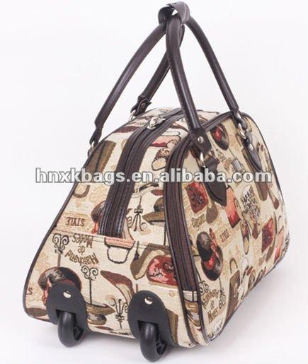 Sackcloth cartoon trolley travel bag