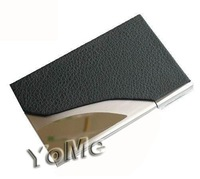 Corporate gift Logo printing metal&leather credit ID business name card holder case,promotion gifts,NCH004