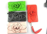 Hot selling PU leather ladies Wallet coin Purses and handbags Clutch bag  Free shipping