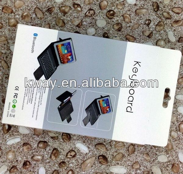 Portfolio Book Wireless Bluetooth Keyboard Folding Leather Case for iPad Mini KKB034