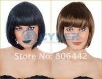 Wonderful Short Straight Cosplay Party Fancy Dress Fake Hair Wig/Wigs Bright Pink Free Shipping
